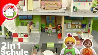 Playmobil neue Schule als Wohnhaus - Pimp my PLAYMOBIL 2 in 1 von Familie Hauser  für Kinder