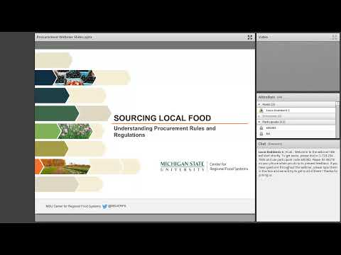 Sourcing Local Foods: Understanding Procurement Rules and Re