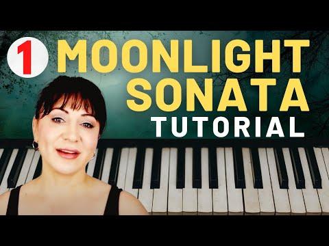 Beethoven Moonlight Sonata Piano Tutorial - Part 1