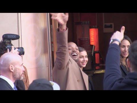 Will Smith Naomi Scott Mena Massoud and Guy Ritchie at Aladdin premiere in Paris
