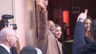 Will Smith, Naomi Scott, Mena Massoud and Guy Ritchie at Aladdin premiere in Paris