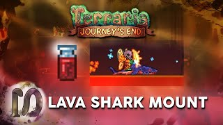 Terraria 1.4 Journey's Eฑd - Lava Shark Mount - Super-heated Blood - Lava Fishing Items.