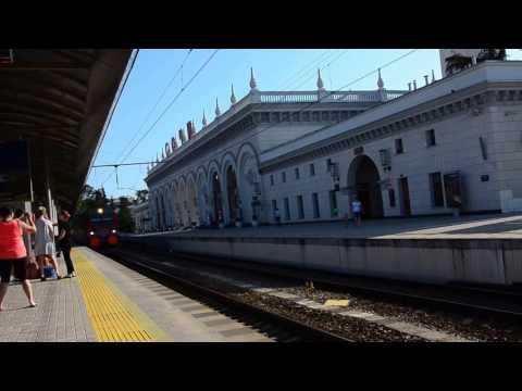Сочи. Прибытие поезда 36 Адлер - Петербург
