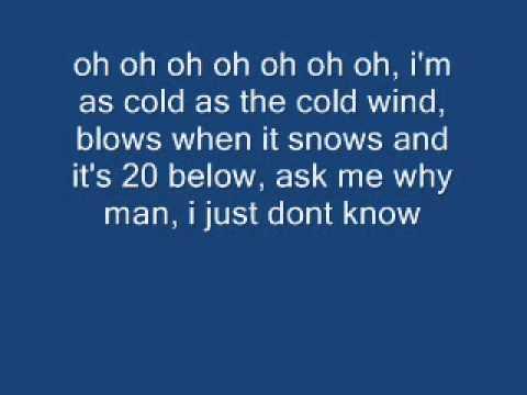 cold wind blows lyrics on screen