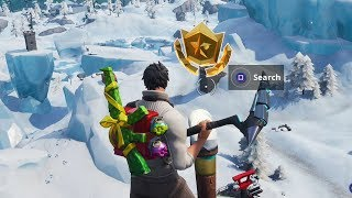 Season 7 Week 1 Secret Battlestar Location Guide (Snowfall Challenges) - Fortnite Battle Royale