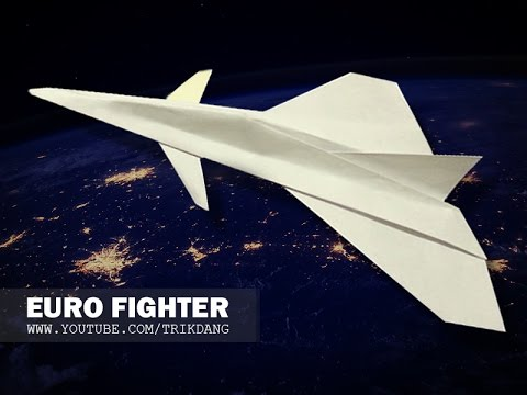 Papercraft Paper airplane Instructions: How to make a paper JET FIGHTER that FLIES flies | Eurofighter