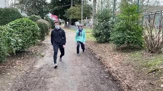 Ausfallschritte Maria-Lenssen-Garten Rheydt -Muskelkater Rundweg
