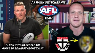 Pat McAfee Reacts To AJ Hawk Switching His AFL Team (SCUMBAG)
