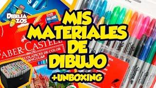 MATERIALES QUE UTILIZO PARA DIBUJAR + UNBOXING