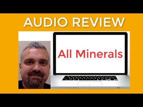 Nutrition Audio Review on All Minerals