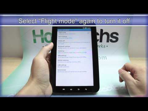 How To Turn On Flight Mode On Samsung GALAXY Tab