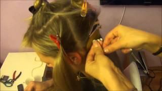 Техника наращивание волос