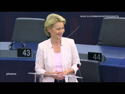 Dankesrede von Ursula von der Leyen nach ihrer Wahl zur Kommissionspräsidentin