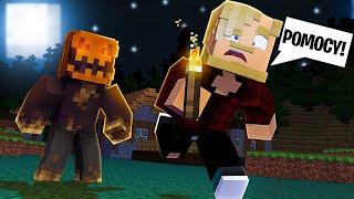 GONIŁ MNIE STRASZNY DUCH HALLOWEEN! TO BYŁ ŻART? l Minecraft BlockBurg
