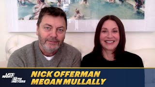 Nick Offerman Was Intimidated by Megan Mullally's Success When They First Met