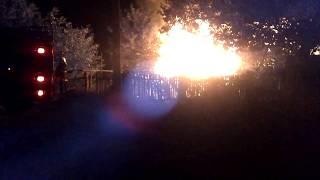 Пожар Дондюшаны 010917 (сгорел сарай)