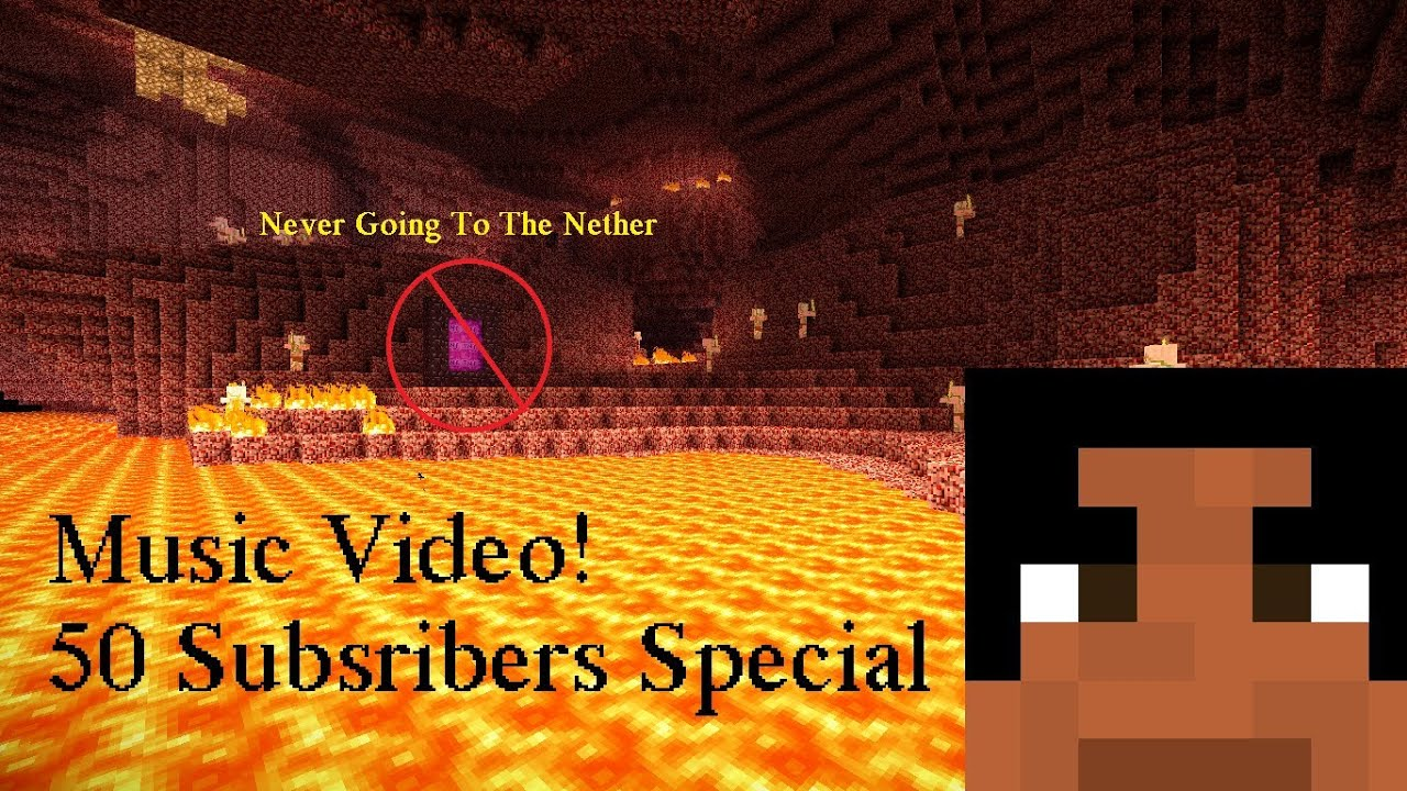 Minecraft Never Going To The Nether! [Acoustic Version] [Music Video] 50 Subscribers Special!!! - Thanks SOOO Much for 50 subscribers! So you wanted more music videos, you got it!