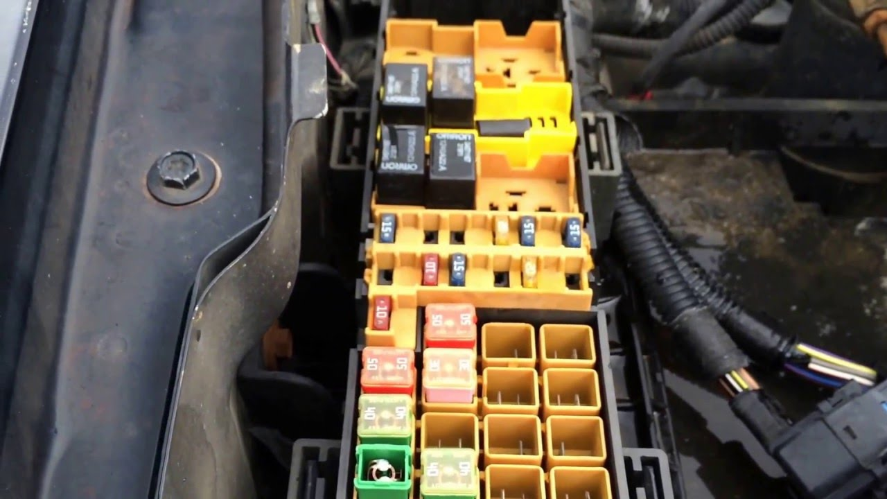 2000 Jeep Grand Cherokee Fuse Box Location Under Hood Youtube O
