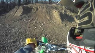 Pit bike jumping