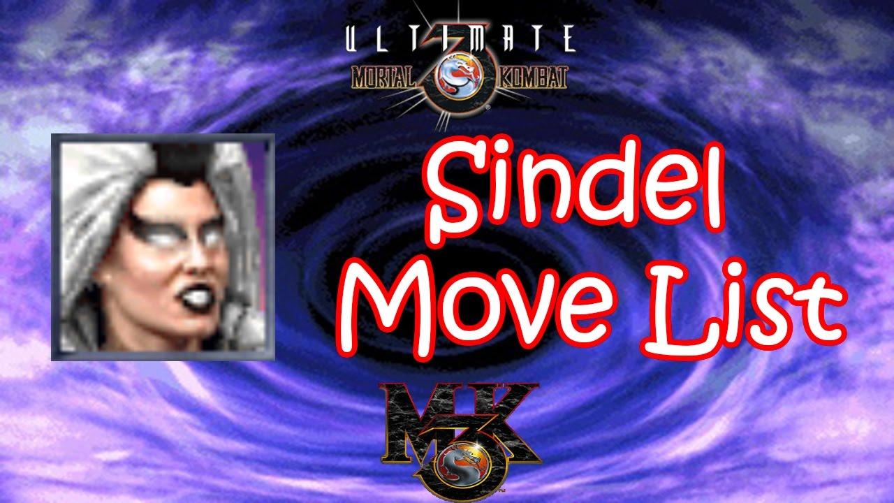 UMK3 / MK3 - Sindel Move List - YouTube