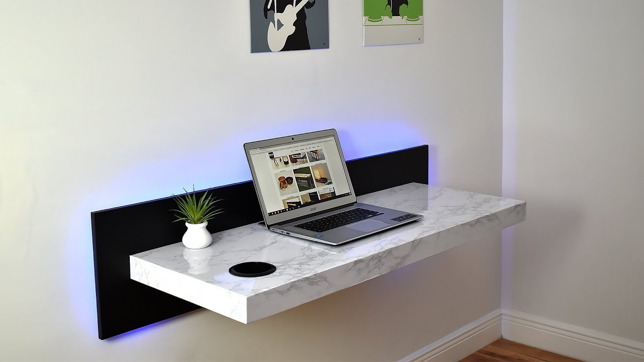Diy Wall Mounted Dream Desk Youtube