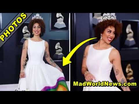 Pro Trump Singer Hits Red Carpet At Grammys, Stuns Viewers With Shocking Message On Dress