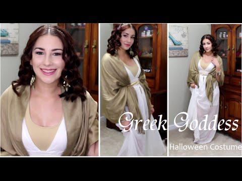 Greek Goddess Halloween Costume : DIY Last Minute T