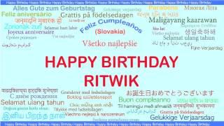 Ritwik   Languages Idiomas - Happy Birthday