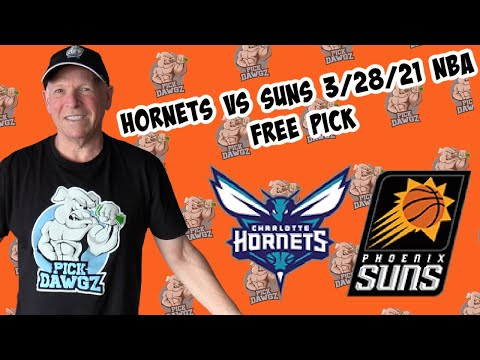 Charlotte Hornets vs Phoenix Suns 3/28/21 Free NBA Pick and Prediction NBA Betting Tips