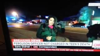 فيديو إصابة مراسلة CNN في ميزوري على الهواء