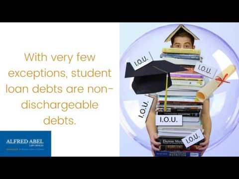 Alfred Abel Law Offices Discusses 7 Non-Dischargeable Debts