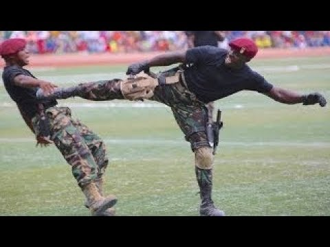 You Must Watch:Africa's Best Commandoes in Public Trainings