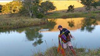 Veja como foi a pescaria com a tarrafa grande nesse lugar selvagem...