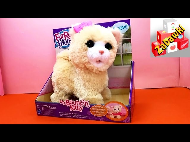 Hasbro A8008E24 FurReal Friends Jumping Kitty | pluszowy kot na baterie | Unboxing & Demo