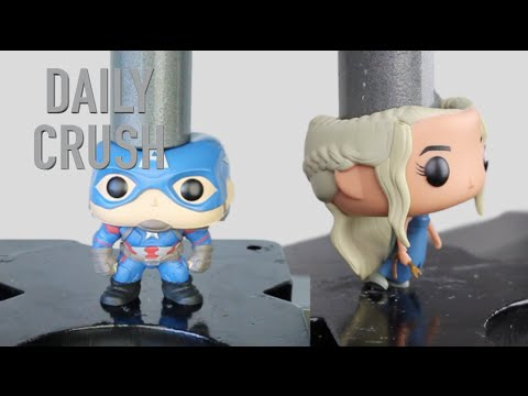 Crushing different VINYL FIGURE Toys Vol. 1 | Hydraulic Press COMPILATION | Daily Crush