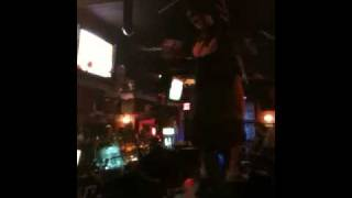 Glen dancing on top of the bar in The Mean Fiddler