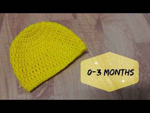 How to crochet a hat for 0 - 3 months old baby   6193623f1e1f