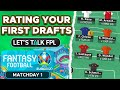 RATING YOUR FIRST DRAFT TEAMS (Matchday 1) | Euro 2020 Fantasy Tips
