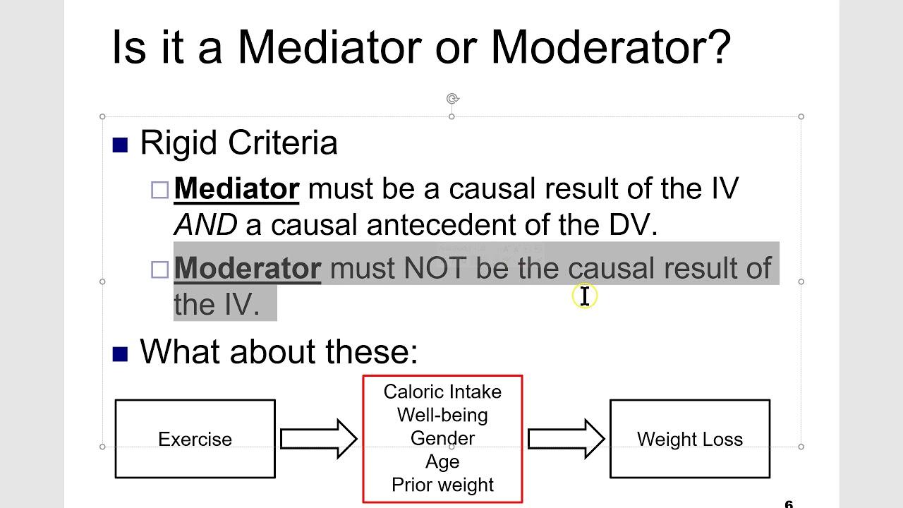 Mediator or Moderator?