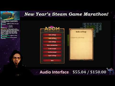 New Year's Steam Game Marathon 56: ADOM: Ancient Domains Of Mystery |