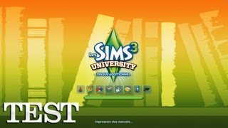 [Test] Les Sims 3 : University (PC FR)