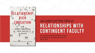 Leo Lambert and Peter Felten on relationships with contingent faculty