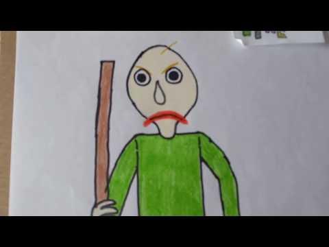 Cómo DIBUJAR y PINTAR a 😑BALDIS😠 BRAVO/how to DRAW And Paint 🤓BALDI basic from BALDI basic