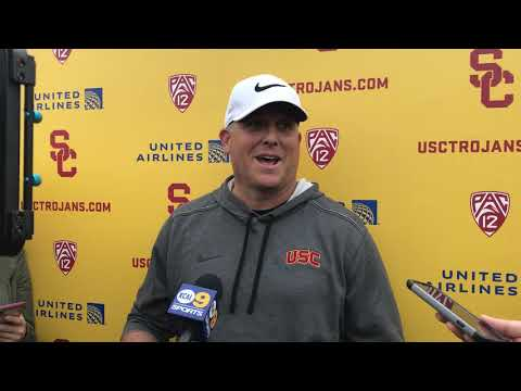 USC Football - Spring Practice #6: Clay Helton