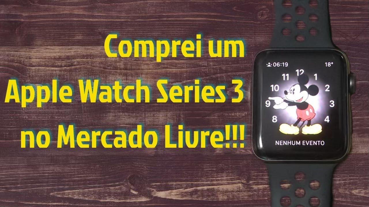 1c02caa867c20 Comprei um Apple Watch series 3 NIKE no mercado livre - Unboxing ...