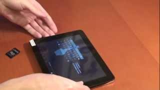 видео Планшет Cortland Tab 001 висит на заставке Android