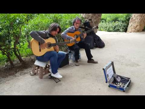 The Spanish guitar, unknown artists, Barcelona