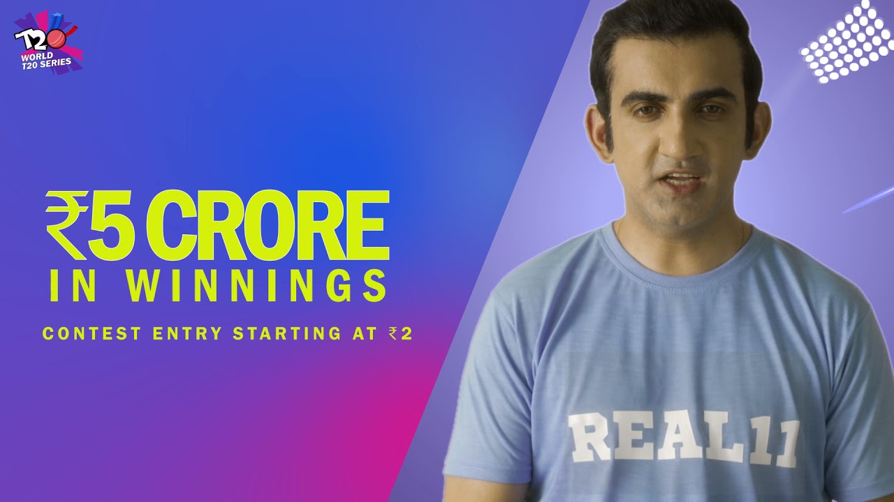 Gambhir welcomes T20 World Series with Real11