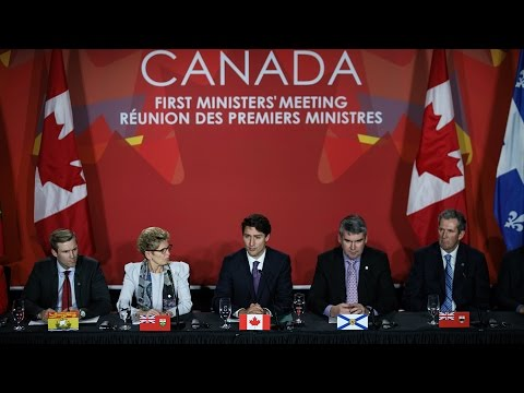 Prime Minister Trudeau presents the Pan-Canadian Framework for Clean Growth and Climate Change