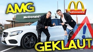 McDonalds PRANK MIT GEKLAUTEN MERCEDES BENZ AMG